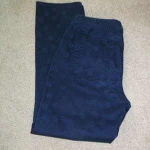 NEW Coldwater Creek Navy poka dot 5 poc Jeans 6